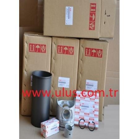 1-87812986-1 Piston + Segman + Gömlek Seti ISUZU 6HK1 Engine Liner Set 1878129861