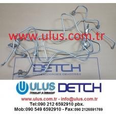 6136-71-5160 Pipe Injection No:6 S6D105 Komatsu Motor Enjektör Borusu
