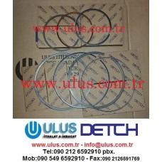 1241748H92 Piston Ring Set Engine SAA6D114E Komatsu Motor Segmanı